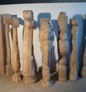 Резные столбы и балясины для лестниц