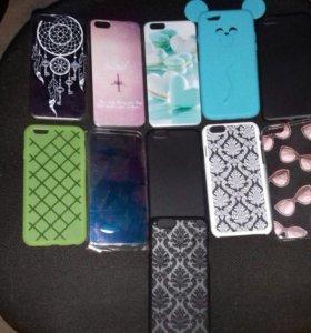 Чехлы на 6 айфон и защитные стекла тоже в наличии