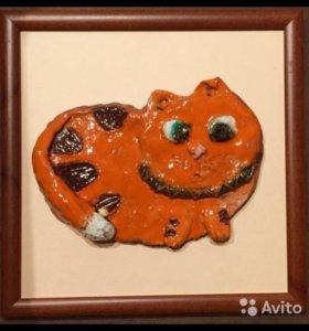 Картина из глины