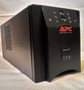 Ибп APC Smart-UPS, 750VA, 500W, (SUA750I)