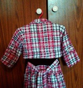 Платье детское с болеро.