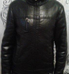 Куртка эко кожа,демисезон, очень стильная р. 46-48
