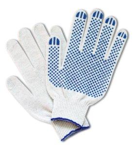 Перчатки рабочие Хб ПВХ 10 класс 4 нити
