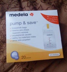 Пакеты для сбора грудного молока medelae