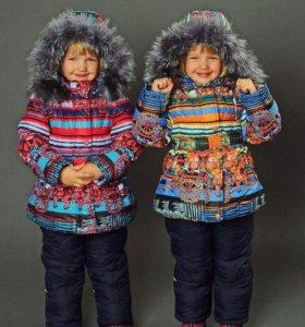 Комплект (куртка + полукомбинезон) для девочки