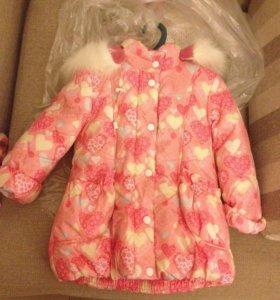 Куртка пальто зима 90-92 новая