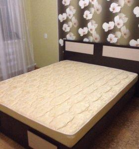 Кровать с матрасом новая 9999 Камод 3500