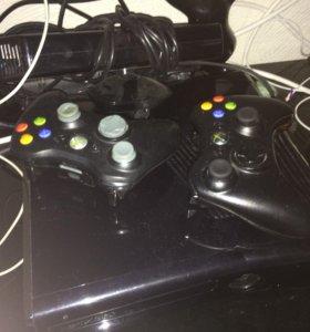 Xbox 360 2 джойстика,кинэкт. Игры (прошитый)