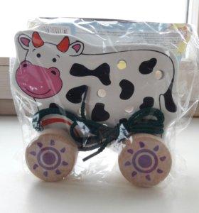 Каталка - шнуровка корова