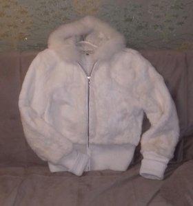 Натуральная меховая куртка-шубка 48-50 размер