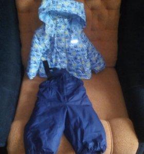 Куртка и полукомбинезон на мальчика на 80 см.