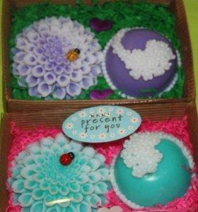 Женские мыльные наборы цветы.
