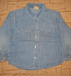 Рубашка джинсовая 3-4 года