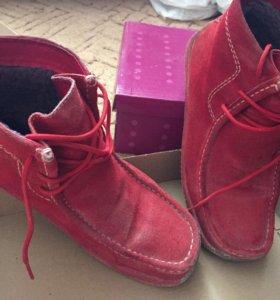 Натуральные Замшевые ботинки зимние