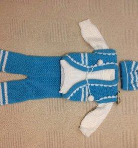 Новый вязанный костюм на мальчика