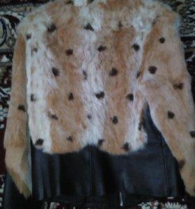 Куртка комбенированная мех-кожа