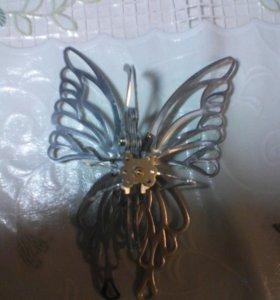 Металическая бабочка
