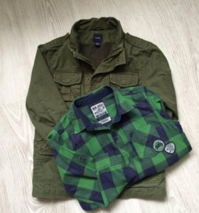 Ветровка Baby Gap 110 см, рубашка LC Waikik 110 cм
