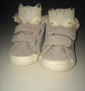 Ботиночки  Zara лисички