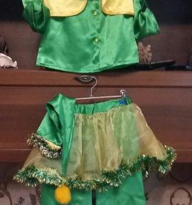 Карнавальный костюм гнома для девочки 6-7лет
