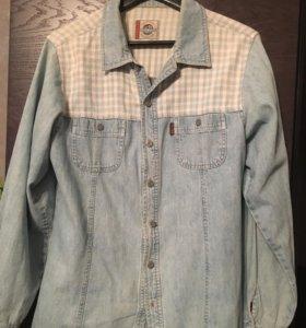 Рубашка джинсовая, 46-48