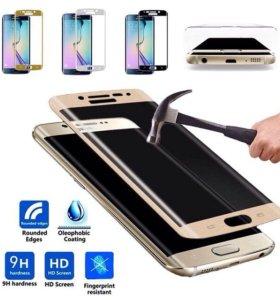 Стекло-бронь Samsung s6 edge