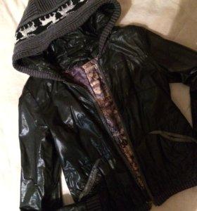 Куртка весна-осень(кожзаменитель)Надевали пару раз