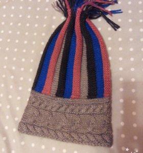 Нов.зимняя модная шапка 400р и перчатки в подарок)