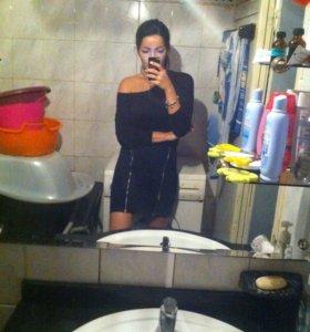 Стильное модное черное платье