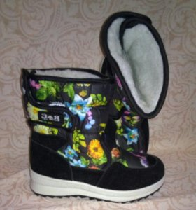 Зимние дутики новые детская зимняя обувь