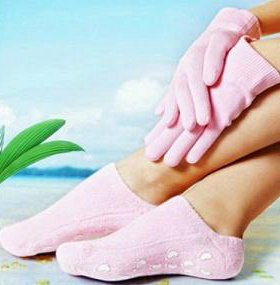 Силконовые гелевые носочки и перчатки