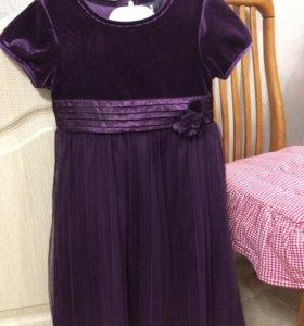 Платье бархатное 116 р