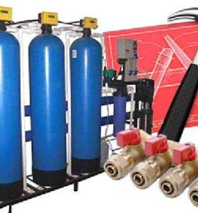 Водоочистка в домах (установка, ревизия)