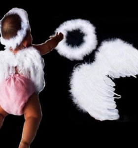 Белые детские крылья