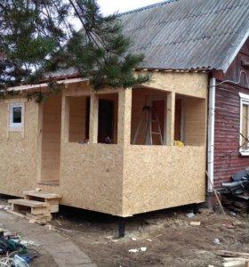 Пристройка к дому утепленная, реконструкция