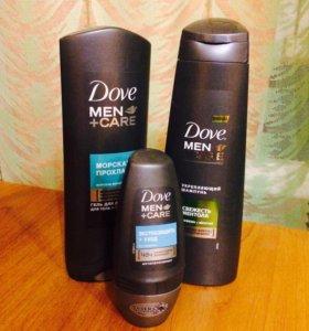 шампунь, гель для душа, дезодорант(мужское).
