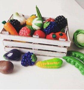 Фрукты/овощи из полимерной глины
