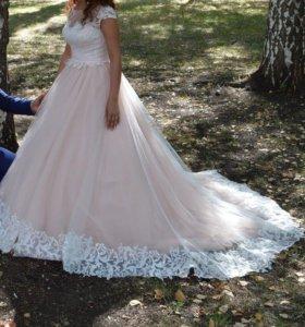 Свадебное платье цвета пудра торг