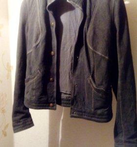 Куртка кожаная(нубук натуральный)