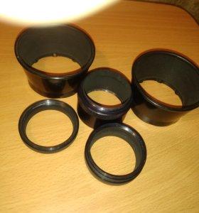 Бленда и кольца на объектив для микросьёмки