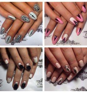 Маникюр,дизайн ногтей ,гель-лак