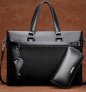 Мужская сумка-портфель+портмоне.