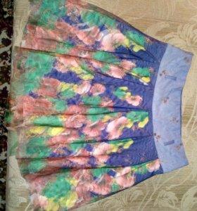 Летняя юбка с 3D эффектом