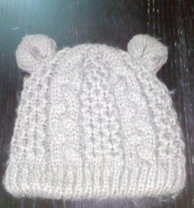 Теплая шапка на девочку 2-3 лет