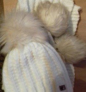 Камплект шапка+шарф