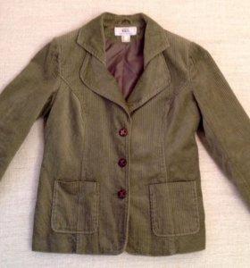 Пиджак зеленый вельветовый