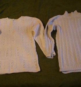 Женские Два теплых вязаных свитера 42-44-р