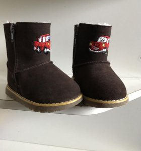 Новые зимние ботинки, натуральные мех и замша -30C