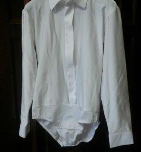 Рубашка-боди для танцев. Размер 32.