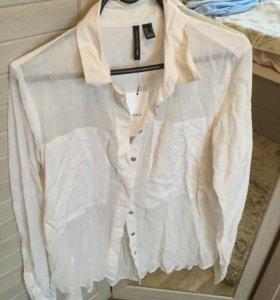 Новая хлопковая блузка mango размер xl 50